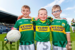 Torin Lyne, Gavin Fitzgerald and Leo Noonan, all from Killarney, pictured at the Kerry Team Open Day Meet and Greet, at Fitzgerald Stadium, Killarney on Saturday last.