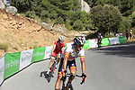 Spanish National Champion Ion Izaguirre Insausti (ESP) Bahrain-Merids descends Sierra de la Alfaguara after Stage 4 of the La Vuelta 2018, running 162km from Velez-Malaga to Alfacar, Sierra de la Alfaguara, Andalucia, Spain. 28th August 2018.<br /> Picture: Eoin Clarke   Cyclefile<br /> <br /> <br /> All photos usage must carry mandatory copyright credit (&copy; Cyclefile   Eoin Clarke)