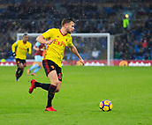 9th December 2017, Turf Moor, Burnley, England; EPL Premier League football, Burnley versus Watford; Tom Cleverley of Watford moves forward with the ball