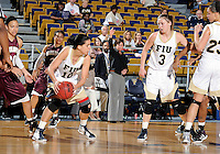 Florida International University guard Fanni Hutlassa (10) plays against ULM. FIU won the game 65-55 on January 07, 2012 at Miami, Florida. .