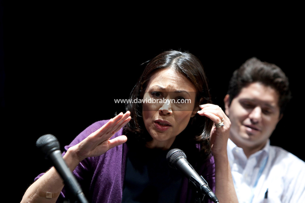 Television journalist Ann Curry (@anncurry) talks during the 140 Character conference in New York City, USA, 16 June 2009.