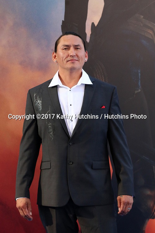 """LOS ANGELES - MAY 25:  Eugene Brave Rock at the """"Wonder Woman"""" Los Angeles Premiere at the Pantages Theater on May 25, 2017 in Los Angeles, CA"""