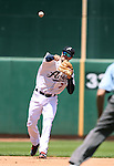 Reno Aces&rsquo; Jack Reinheimer makes a play against the Iowa Cubs at Greater Nevada Field in Reno, Nev., on Tuesday, May 17, 2016. <br />Photo by Cathleen Allison