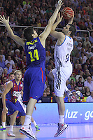 16.06.2013 Barcelona, Spain. Liga Endesa . Playoff game 4 Picture Felipe Reyes in action during game between FC Barcelona against Real Madrid at Palau Blaugrana