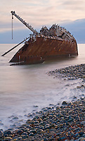 Shipwreck at point San Jacinto, Baja, Mexico