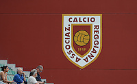 20160526 - REGGIO EMILIA , ITALY : illustration picture showing boarding of Associaz Calcio Reggiana logo during a womensoccer match between the teams of  VFL Wolfsburg Frauen and Olympique Lyon , during the final of the Uefa Women Champions League 2015 - 2016 in Stadio citta del tricolore Stadium , Reggio Nell Emilia - Italy , Thursday 26 May 2016 . PHOTO SPORTPIX.BE / DAVID CATRY