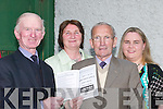 SUPPORTERS: Supporting the Greyhound Races at Kingdom Greyhound Stadium, Tralee, in aid of Kerry General Hospital,on Friday night were, l-r: Tim Curran (Kilmoyley), Ann Murphy (Ballyheigue), Diarmuid Lawlor (Kilmoyley) and Catherine Ryan (Tralee)..