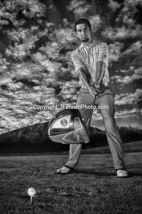 Black and White gritty edgy golf images shot by JFennellPhoto.com