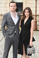 Sam Doyle and Sai Bennett (R) arrive for the VIP preview of the Royal Academy of Arts Summer Exhibition 2016