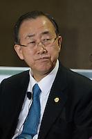 RIO DE JANEIRO-21/06/2012-Ban Ki Moon, Secretario Geral da ONU, na  Conferencia da ONU, no Rio Centro, zona oeste do Rio.Foto:Marcelo Fonseca-Brazil Photo Press