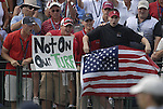 American fans on the 1st tee during the Singles on the Final Day of the Ryder Cup at Valhalla Golf Club, Louisville, Kentucky, USA, 21st September 2008 (Photo by Eoin Clarke/GOLFFILE)
