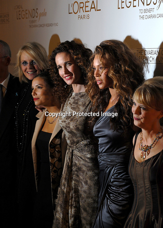 Diane Keaton, Eva Longoria, Andie MacDowell, Beyonce ..Knowles, Carol Hamilton ..arriving at The Ovarian Cancer Research Fund L'Oreal Legends Gala on November 8, 2006 at The American Museum of Natural History. ..Robin Plater, Twin Images