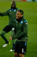 26th November 2019; Anfield, Liverpool, Merseyside, England; UEFA Champions League, Liverpool versus Napoli, Napoli Training; Allan of SSC Napoli during SSC Napoli's open training session at Anfield ahead of tomorrow's Champions League group match against Liverpool