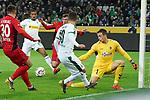 15.03.2019, Borussia Park , Moenchengladbach, GER, 1. FBL,  Borussia Moenchengladbach vs. SC Freiburg,<br />  <br /> DFL regulations prohibit any use of photographs as image sequences and/or quasi-video<br /> <br /> im Bild / picture shows: <br /> 1:1 durch Alassane Pléa (Gladbach #14), <br /> <br /> Foto © nordphoto / Meuter