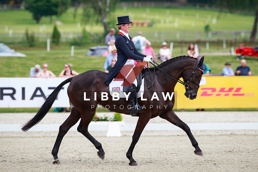 GBR-Nicola Wilson rides Bulana into 2nd position during the 1st day of Dressage, CCI4* Presented by DHL, at the 2017 Luhmühlen International Horse Trial. Thursday 15 June. Copyright Photo: Libby Law Photography