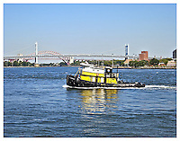 NEW YORK, NY - AUGUST 31: View from Carl Schurz Park of Triboro bridge in Yorkville, New York on August 31, 2012. Photo Credit: Thomas R Pryor