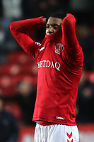 Ezri Konsa of Charlton reacts at the final whistle after Oxford score two late goals to win the match 3-2 during Charlton Athletic vs Oxford United, Sky Bet EFL League 1 Football at The Valley on 3rd February 2018