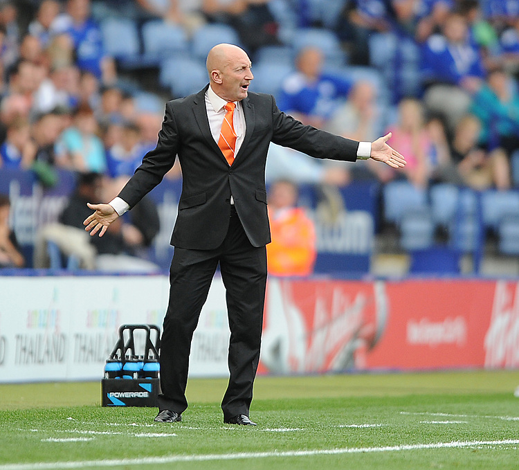 Blackpool's Manager Ian Holloway ..Football - npower Football League Championship - Leicester City v Blackpool - Saturday 1st September 2012 - King Power Stadium - Leicester..