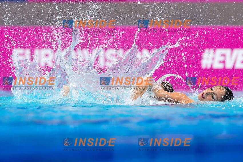 CERRUTI Linda FERRO Costanza  ITA<br /> London, Queen Elizabeth II Olympic Park Pool <br /> LEN 2016 European Aquatics Elite Championships <br /> Duet Free final<br /> Day 03 11-05-2016<br /> Photo Giorgio Scala/Deepbluemedia/Insidefoto