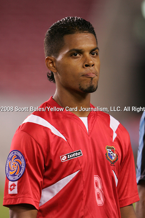 13 March 2008: Cristian Vega (PAN) (8). The United States U-23 Men's National Team defeated the Panama U-23 Men's National Team 1-0 at Raymond James Stadium in Tampa, FL in a Group A game during the 2008 CONCACAF Men's Olympic Qualifying Tournament.