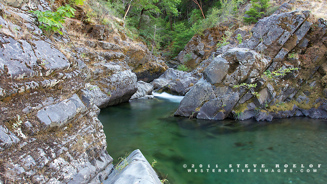 The gorgeous rock formations and emerald waters of Big Windy Creek.