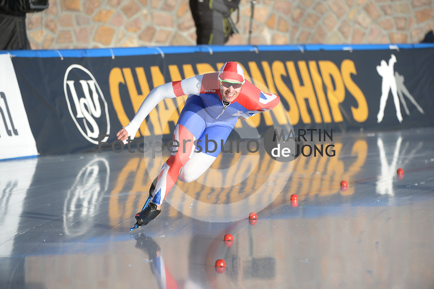 SPEED SKATING: COLLALBO: Arena Ritten, 11-01-2019, ISU European Speed Skating Championships, Cornelius Kersten (GBR), ©photo Martin de Jong