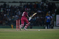 February 26th 2020,the Mahinda Rajapaksha International Stadium, Hambantota, Sri Lanka; One Day International cricket, Sri Lanka versus West Indies; Darren Bravo plays a shot