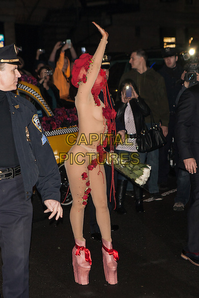 NEW YORK, NY -  MARCH 28:  Lady Gaga arrives in style for her residency show at Roseland Ballroom on March 28, 2014 in New York City. <br /> CAP/MPI/COR99<br /> &copy;COR99/MPI/Capital Pictures