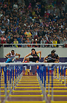 SHANGHAI, CHINA - MAY 19:  Liu Xiang of China (C) wins the Men 110m Hurdles  on May 19, 2012 at the Shanghai Stadium in Shanghai, China.  Photo by Victor Fraile / The Power of Sport Images