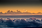 USA, Hawaii, Big Island , clouds as viewed from Mauna Kea Observatories (MKO)