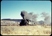 D&amp;RGW #476 K-28 with excursion train near Durango.<br /> D&amp;RGW  Durango area, CO