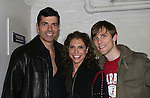 """Actor Joe Barbara (Captain Joe Carlino - Another World and Paolo Caselli - All My Children) stars with Jodie Langel (C) and Adam Hose (R) n the musical """"I Come For Love"""" as a part of the New York Musical Theatre Festival at the Chernuchin Theatre, NYC, NY. (Photo by Sue Coflin/Max Photos)"""