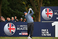 Anthony Wall (ENG) in action during the Final Round of the British Masters 2015 supported by SkySports played on the Marquess Course at Woburn Golf Club, Little Brickhill, Milton Keynes, England.  11/10/2015. Picture: Golffile | David Lloyd<br /> <br /> All photos usage must carry mandatory copyright credit (© Golffile | David Lloyd)