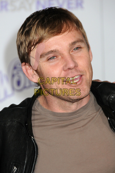 "RICK SCHRODER .""Justin Bieber: Never Say Never"" Los Angeles Premiere held at Nokia Theater L.A. Live, Los Angeles, California, USA..February 8th, 2011.headshot portrait black brown ricky band aid plaster bandage injury wound  mouth open.CAP/ADM/BP.©Byron Purvis/AdMedia/Capital Pictures."