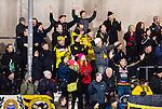 Stockholm 2014-12-19 Bandy Elitserien Hammarby IF - Broberg S&ouml;derhamn :  <br /> Broberg S&ouml;derhamns supportrar under matchen mellan Hammarby IF och Broberg S&ouml;derhamn <br /> (Foto: Kenta J&ouml;nsson) Nyckelord:  Elitserien Bandy Zinkensdamms IP Zinkensdamm Zinken Hammarby Bajen HIF Broberg S&ouml;derhamn supporter fans publik supporters