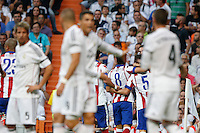 13.09.2014 SPAIN -  La Liga 14/15 Matchday 03th  match played between Real Madrid CF vs Atletico de Madrid Bernabeu stadium. The picture show Atletico de Madrid celebrating his team's goal