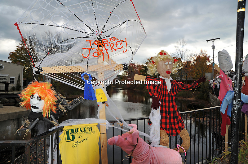 Scarecrow Contest on the Streets of Rural Jaffrey, New Hampshire USA