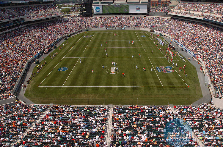 28 MAY 2005:  Johns Hopkins University takes on the University of Virginia at Lincoln Financial Field in Philadelphia, PA.  Larry French/NCAA Photos