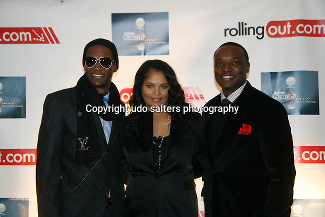 Alexander Allen, Angelika Morton and Kwame Jackson attend the Gillette Fusion Men of Style Awards at The 40/40 Club, NY November 2, 2009, Photos by Derrick Salters