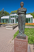 Bronze sculptures in the Leo Mol Sculpture Garden in Assiniboine Park<br /> Winnipeg<br /> Manitoba<br /> Canada