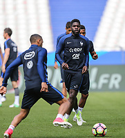 Samuel Umtiti (Barcelona) of France during the France National Team Training session ahead of the match with England tomorrow evening at Stade de France, Paris, France on 12 June 2017. Photo by David Horn / PRiME Media Images.