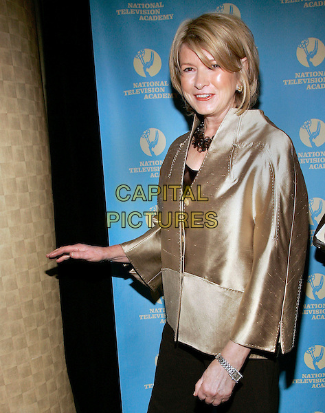 MARTHA STEWART.At the 33rd Annual Creative Daytime Emmy Awards,  .New York City, NY, USA, 22 April 2006..half length stuart gold jacket.Ref: ADM/JL.www.capitalpictures.com.sales@capitalpictures.com.©Jackson Lee/AdMedia/Capital Pictures.