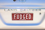 "Victoria License Plate ""Fudged"""