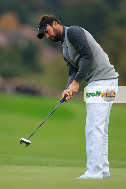 Scott Jamieson (SCO) in action during round 3 of the British Masters played at The Grove, Chandler's Cross, Hertfordshire, England.  15/10/2016<br /> Picture: Golffile | Phil Inglis<br /> <br /> <br /> All photo usage must carry mandatory copyright credit (&copy; Golffile | Phil Inglis)