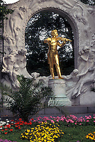 Vienna, Austria, Wien, Johann Strauss Monument in the City Park in Vienna