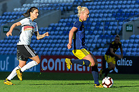 20200304 Faro , Portugal : German midfielder Dzsenifer Marozsan (10) and Swedish Stina Blackstenius (11) pictured during the female football game between the national teams of Germany and Sweden on the first matchday of the Algarve Cup 2020 , a prestigious friendly womensoccer tournament in Portugal , on wednesday 4 th March 2020 in Faro , Portugal . PHOTO SPORTPIX.BE | STIJN AUDOOREN