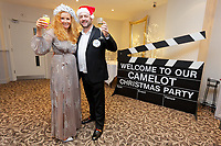Pictured L-R: Lottery winners Karen Willett with husband Nigel from Caerphilly.  Wednesday 28 November 2018<br /> Re: National Lottery millionaires from south Wales and the south west of England have hosted a glitzy Rat Pack-inspired Christmas party for an older people's music group at The Bear Hotel in Cowbridge, Wales, UK.