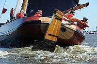 ZEILEN: TERHERNE, 23-07-2014, SKS skûtsjesilen, skûtsje Earnewâld met schipper Gerhard Pietersma, ©foto Martin de Jong