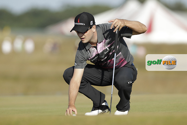 Zach JOHNSON (USA) during round two of  The 142th Open Championship Muirfield, Gullane, East Lothian, Scotland 19/7/2013<br /> Picture Eoin Clarke www.golffile.ie: