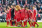 10.03.2018, Allianz Arena, Muenchen, GER, 1.FBL,  FC Bayern Muenchen vs. Hamburger SV, im Bild die Bayern feiern den Sieg<br /> <br />  Foto &copy; nordphoto / Straubmeier